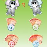 Busdjurens fotomemo, du kan välja att spela med 6, 8, 12 eller 20 brickor.