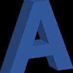 3D-bokstäver i blått