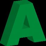 3D-bokstäver i grönt