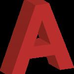 3D-bokstäver i rött